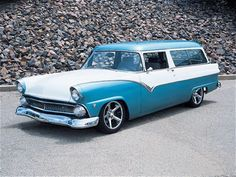 1955 Ford Ranch Wagon (great for our family of seven, as bit early, but we always had well used vehicles. :)