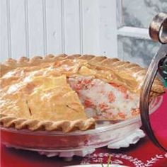 New England Salmon Pie.  Traditional French Canadian fare I grew up with.  Very good!  #scenesofnewengland #soNE #soNEfood #food #NewEngland #pie #salmon
