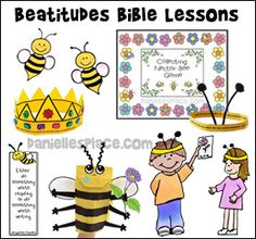 Beatitude Sunday School Lessons for Children from www.daniellesplace.com