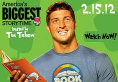 "Tim Tebow reads ""Green Eggs and Ham"" as part of the Bookit Program"