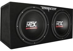 MTX Audio Terminator Series Dual Sub Enclosure Car Electronics. A great improvement to the anemic base sound system for car music. Small Subwoofer, 12 Inch Subwoofer, Subwoofer Speaker, Subwoofer Box, Powered Subwoofer, Nottingham, Car Speaker Box, Quad, Car Best