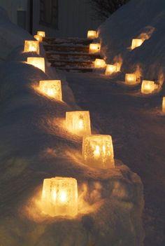 Lanternes Noël dehors hiver - Des extérieurs festifs
