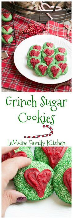 I just love the classic Grinch from Dr. Seuss so I thought it would be really fun to make Grinch Sugar Cookies to enjoy while watching the show as a family. These are a really easy to make and absolutely adorable!