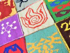 Geek-A-Long blanket squares