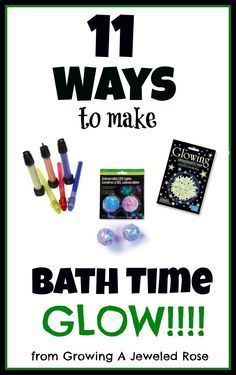 11 ways to make bath time GLOW! Great for little ones who don't like bath time. Craft Activities For Kids, Toddler Activities, Indoor Activities, Craft Ideas, Glow Stick Crafts, Neon Crafts, My Bebe, Baby Bath Time, Summer Kids