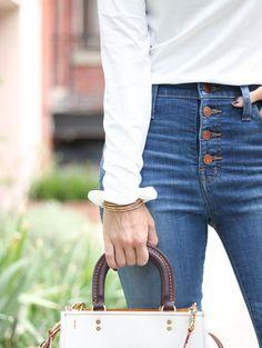 Fall Fashion / Button Fly Denim