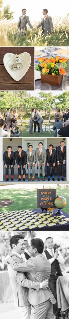John and Marc met online and after five years Marc proposed to John on a cruise. - LOVE THE SOCKS! Wedding 2017, Wedding Goals, Our Wedding, Dream Wedding, Wedding Shit, Wedding Prep, Wedding Attire, Wedding Signs, Fall Wedding