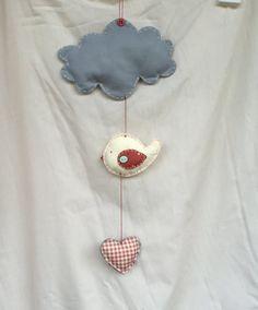 Baby Mobile uccellino di LoveLabLove su Etsy https://www.etsy.com/it/listing/240642632/baby-mobile-uccellino