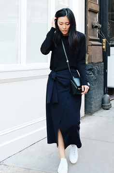 opening ceremony walt wuiting side-tie skirt | givenchy bag & adidas sneakers.