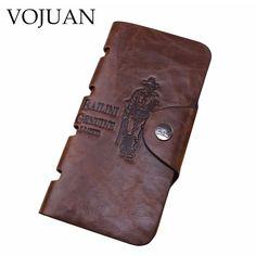 VOJUAN Fashion Men's Wallet High Quality Leather 2016 Business Long Men Purses Money Card Holder Coin Purse Male Clutch Bags