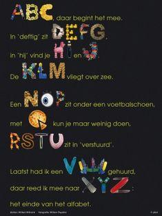 ABC, daar begint het mee.   gedicht: Willem Wilmink / beeld: Willem Popelier © plint  http://www.plint.nl/plint/aan-de-muur/poezieposters/abc/#