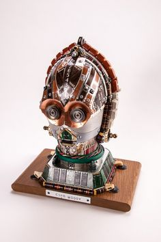C3PO made of old PC and typewriter parts