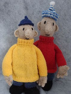 Buurman en Buurman Breipatroon/ Pat and Mat Knitting pattern by Elise wesselo