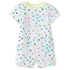 Oh Joy!® Newborn Short Sleeve Romper - ABC