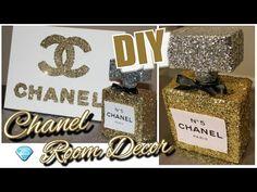 DIY Chanel Perfume Bottle Room Decor & Chanel Canvas Wall Decor| Tumblr Inspired Chanel - YouTube