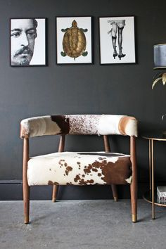Cowhide Torres Bucket Armchair - Various Patterns Available - Rockett St George