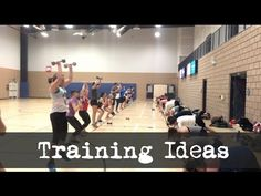Training ideas for Big Groups - 2 Lined Circuit - YouTube
