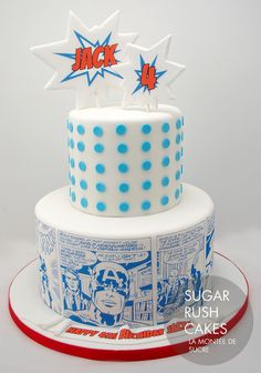 Captain America Comic Strip Cake