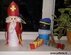 Sinterklaas en Zwarte Piet knutselen