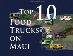 10 Maui Food Trucks Starving after a day at the beach? It's okay, has food trucks all over the island!Maui (disambiguation) Maui is the second-largest of the Hawaiian Islands. Maui may also refer to: Hawaii 2017, Hawaii Life, Aloha Hawaii, Visit Hawaii, Trip To Maui, Hawaii Vacation, Food Trucks, Maui Food, Maui Restaurants
