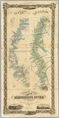 Chart of the Lower Mississippi River (1858) | A. Persac