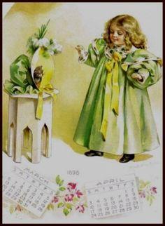 Amazon.com: Calendar by Maud Humphrey Art Print (1898 / 1993) , Size: 8.1/2 X 11 Inches: Home & Kitchen