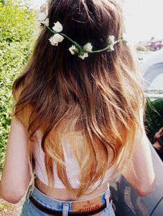 hippie chic, flower crown