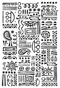 Mimi's Geo Doodles Clear Stamp. $7.99, via Etsy.