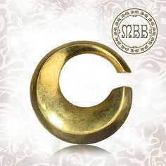 """Antik 4g (5mm) Runde Tribal Ohr Gewichte Messing Ohrringe Boho Hippie Style 1""""…"""