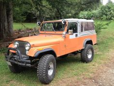 1981 Jeep CJ-8 Scrambler with soft top.  Need the soft top and rear seat for the boys.
