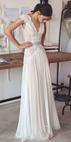 New Arrival Wedding Dress,Romantic Wedding Dresses,Long Lace Wedding Dresses,Chiffon Wedding Dress