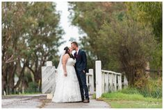 Bride & Groom sharing a kiss near the walk bridge. Rainy Autumn Wedding at Redcliffe on the Murray in Pinjarra. Photography by Trish Woodford Photography Rainy Wedding, Autumn Wedding, Wedding Day, Rustic Wedding Venues, Father Daughter Dance, Happy Marriage, Very Lovely, Family Photographer, Bride Groom