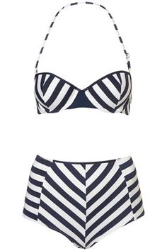 STRIPE PUSH UP BIKINI AND PANT  $64.00 TOPSHOP