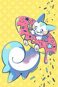 Sugary Sweet Squirrel by crayon-chewer Nintendo Pokemon, All Pokemon, Cute Pokemon, League Of Legends, Pokemon Original, First Pokemon, Pokemon Pictures, Digimon, Cute Wallpapers