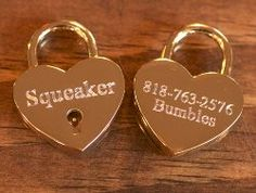 Locking Heart ID tag  California Collar Company