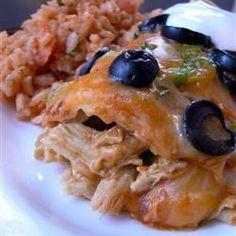 Angela's Awesome Enchiladas!  I used the green enchilada sauce and added cumin...YUM!!!