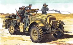 Italian Truck-Mounted Artillery in Action (Squadron Signal Army Vehicles, Armored Vehicles, Military Diorama, Military Art, Desert Diorama, Afrika Corps, North African Campaign, Truck Transport, Italian Army