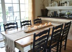 [ French Farmhouse Table Dining Room Modern Interior Design Ideas Products Kitchen Kitchen Dining Furniture Dining Tables ] - Best Free Home Design Idea & Inspiration Country Dining Tables, French Country Dining Room, Farmhouse Dining Room Table, Dining Room Chairs, Farm Tables, Country French, Country Kitchen, Kitchen Dining, Rustic French
