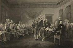 John Parrot Premium Thick-Wrap Canvas Wall Art Print entitled Vintage American History print of leaders of congress History Posters, Us History, American History, American Art, Declaration Of Independence, Independence Day, July 4th 1776, Happy Fourth Of July, War Of 1812