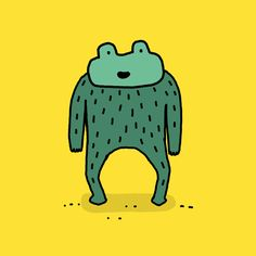 New party member! Tags: animation dance fun party cartoon friday weekend techno character frog happy dance boogie feel good get down good time luiz stockler john the hairy frog hairy frog