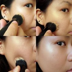 """Bonus: Applying foundation with a stippling brush (instead of your fingers) will help the makeup last longer.   Here's WTF It Means To """"Stipple Your Face"""""""