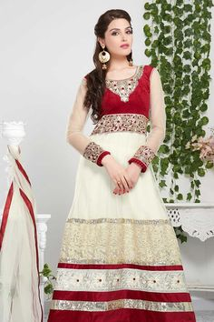 Cream Net Churidar Suit  Prize:-£49.00  Designer new arrival collection like Cream Net Churidar Suit presented by Andaaz Fashion. Embellished with Embroidered, Resham, Stone, Full Sleeve Kameez, Floor Length Kameez, U Neck Kameez. This is perfect for Party, Wedding, Festival, Casual available in Shetland, ZE3  http://www.andaazfashion.co.uk/cream-net-churidar-suit-dmv13202.html#reviewtag