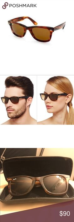 Gr8 deal RAYBANS worn once wayfarer style Beautiful pair of rayban sunglasses. NO LONGER ON THE WEBSITE. I honestly love them but I received them as a gift from an ex and I want to get rid of them. Very fair price. OPEN TO OFFERS. In excellent to perfect condition. Ray-Ban Accessories Sunglasses