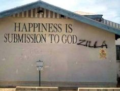 Because religion is laughable. Funny atheist/secular/religious memes, jokes, parody and satirical humour. Godzilla, Submissive, Cool Words, Make Me Smile, I Laughed, Laughter, Haha, Funny Pictures, Funny Pics