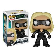 "Black+Canary+is+ready+for+a+fight+as+the+POP+TV:+Arrow+-+Black+Canary+Vinyl+Pop!+Figure,+based+on+the+Black+Canary's+appearance+in+The+CW's+Arrow.+Wearing+her+black+outfit+and+with+a+black+mask,+this+Canary+can+sneak+throught+the+night.+She+wears+her+long+blonde+hair+down.+Made+by+Funko.+Measures+approximately+3+3/4""+tall."