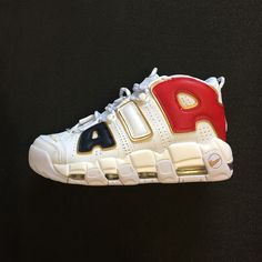 size 40 e32c7 d25fe 2018 How To Buy Nike Air More Uptempo QS AIR Navy Blue Red Gold White 414962