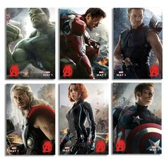 Marvel's The Avengers: Age Of Ultron Mini Poster Set Of 3 - 750 points