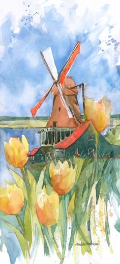 Dutch Vignette « Annelein Beukenkamp Watercolors