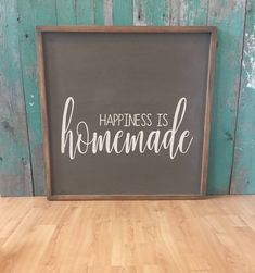 Happiness is Homemade - Happiness Is Homemade Sign Family Sign - Rustic Home Decor - Homemade Signs - Valentines Day - Valentines Day Gift by heartsandhooksCO on Etsy https://www.etsy.com/ca/listing/520101634/happiness-is-homemade-happiness-is