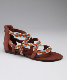 Take a look at this Blue & Orange Sariah Sandal  by Women's Blow-Out Sale on #zulily today!